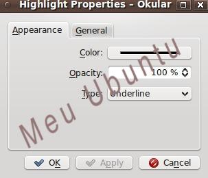 Configuração Okular